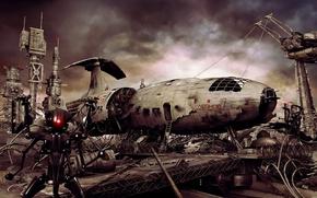 Wallpaper robot, Ship, dump, Leonov