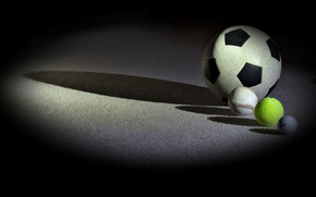 Wallpaper sport, balls, background