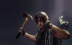 Picture art, actor, Daryl Dixon, The walking dead