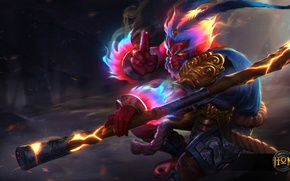 Wallpaper hon, Heroes of Newerth, Monkey King, moba, Unbound, Unbound Monkey King, art
