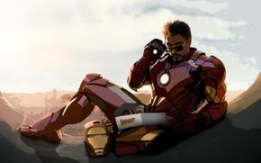 Picture Robert Downey Jr, iron man, fan art, tony stark