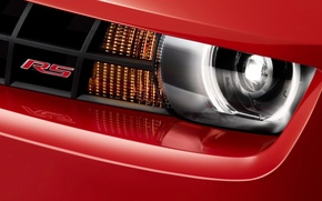 Picture red, chevrolet, headlight