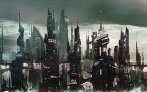 Picture The city, Future, Skyscrapers