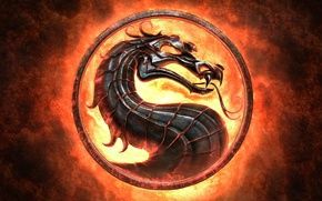 Picture language, fire, flame, sign, dragon, emblem, Mortal Kombat, Mortal Kombat, a game for the ages, …