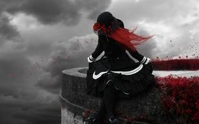 Picture rose, gothic, gloomy, red hair, goth, Gothic & Lolita, goth, MskyCarmen, Gothic lolita