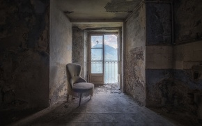 Picture room, interior, chair