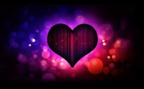 Picture purple, love, heart, dark