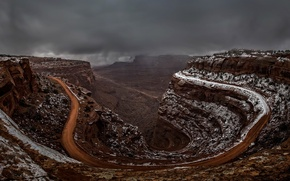 Picture road, canyon, Utah, Endless Road, Shaffer Canyon
