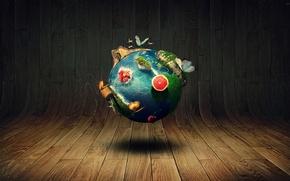 Picture world, earth, fantasy, landscape, sphere, marin mocanu, mocanu, marin