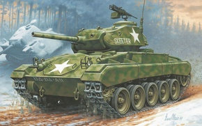 Picture easy, tank, American, Chaffee, M24 Chaffee