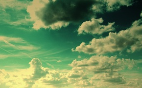 Wallpaper the sky, the sun, clouds, fiction