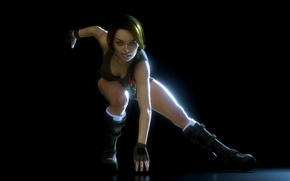 Picture pose, look, rendering, face, lara croft, hair, girl, gloves, tomb raider