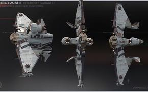 Picture Star Citizen, space ship, MISC Reliant Sen