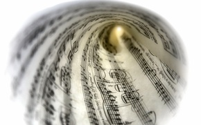 Picture macro, notes, music, background