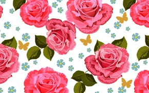 Picture flower, leaves, flowers, background, widescreen, Wallpaper, rose, texture, wallpaper, rose, flowers, widescreen, background, roses, full …