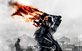 Picture War, Flag, Machine, Fighter, Homefront, Burning Flag