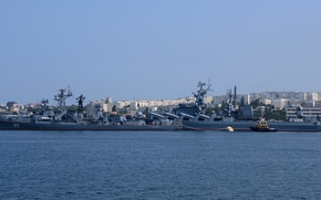 """Picture ship, cruiser, rocket, The black sea, Sevastopol, guard, """"Sharp-witted"""", """"Moscow"""""""