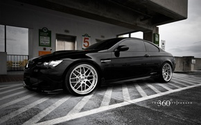Wallpaper BMW, black, drives