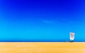 Wallpaper sea, the sky, sail