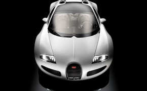 Wallpaper white, black, Bugatti
