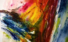 Wallpaper color, figure, paint, abstraction