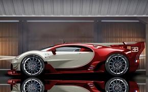Picture reflection, Bugatti, Veyron, Bugatti Veyron, hypercar, sports car, The Bugatti Veyron EB 16.4