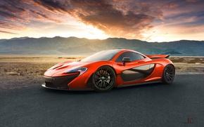 Wallpaper McLaren, Orange, Front, Death, Sand, Supercar, Valley, Hypercar, Exotic, Volcano, Extra, Terrestrial