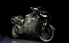 Wallpaper black, motorcycle, honda