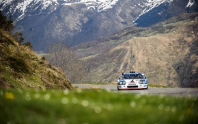 Picture road, grass, mountains, race, hand, JS2, Ligier