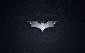 Wallpaper logo, grey, Batman