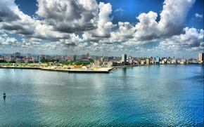 Wallpaper promenade, hdr, Havanna, Cuba, HDR