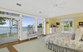 Picture room, Windows, interior, door, bedroom