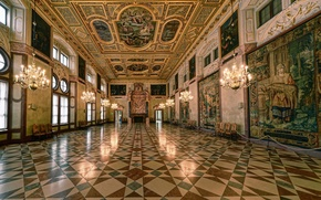 Picture Munich, Bayern, Munich Residenz, The Emperor's hall, Royal hall