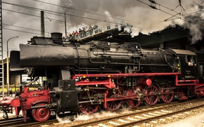 Wallpaper Locomotive, Germany, Train, The engine, Old appliances