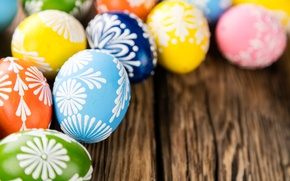 Picture eggs, holiday, spring, happy, Easter, eggs, Easter, wood, colorful, spring