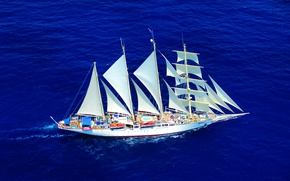 Picture sea, ship, sailboat, Star, Clipper