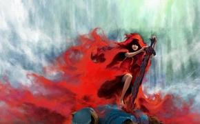 Wallpaper murder, wolf, little red riding hood