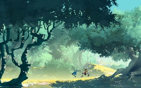 Picture road, forest, trees, the game, game wallpapers, Rayman legends