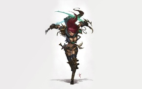 Picture weapons, the game, runs, League of Legends, Katarina, the Sinister Blade