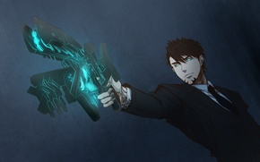 Picture gun, anime, guy, cosplay, Kotetsu, Tiger and Bunny