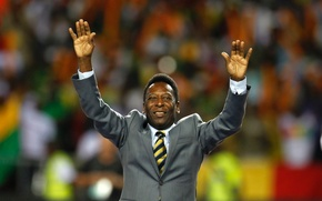 Wallpaper pele, the king of football, Pele, football