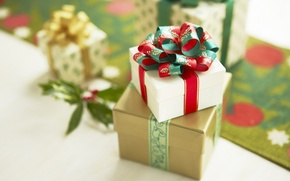Wallpaper merry christmas, holiday, gift, surprise, box, Christmas, new year, new year, ribbon, bow