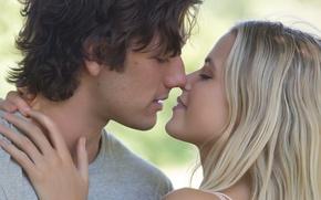 Wallpaper Love, Girl, the, Wallpaper, Blonde, Boy, Year, Kiss, Lips, Kissing, Movie, Film, 2014, Hair, Hands, ...