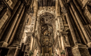 Picture Italy, Cathedral, Duomo, Sicily, Cefalu
