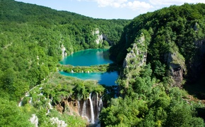 Picture water, waterfalls, national Park, Plitvice lakes