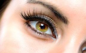 Wallpaper woman, eyes, makeup