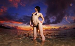 Picture beach, asian, bikini