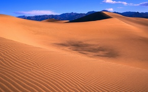 Wallpaper dunes, mountains, barkhan, horizon, the sky, desert, sand