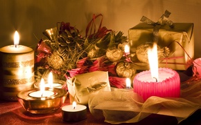 Picture candles, gifts, boxes