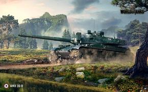 Picture France, tank, World of Tanks, WOT, AMX 30 B, AMX-30B